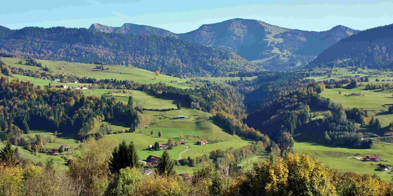Herbstlandschaft, Hochgrath, Allgaeu Sonne