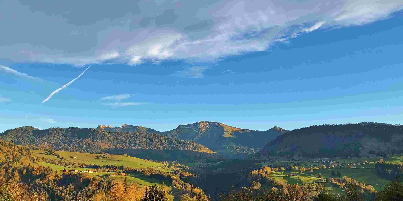 Ausblick auf Hochgrat im Herbst