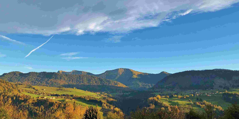 Hochgrat, blick von Hotel Allgäu Sonne, Oberstaufen