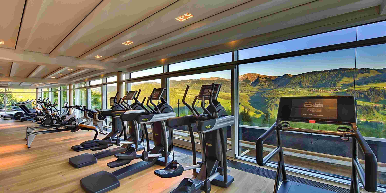 Fitnesswelt im Sporthotel im Allgäu