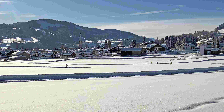 Langlaufloipe Kalzhofen beim Sporthotel im Allgäu