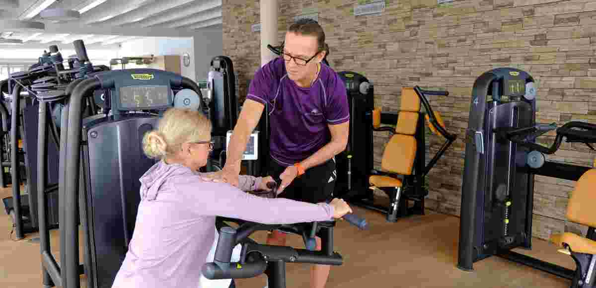 Personal Training im der Fitnesswelt im 5* Sport- & Wellnesshotel Allgäu Sonne in  Oberstaufen