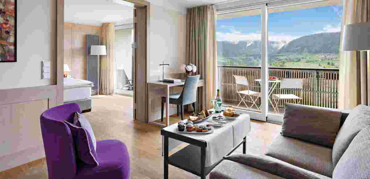 Junior Suite with mountain view in the hotel Allgäu Sonne