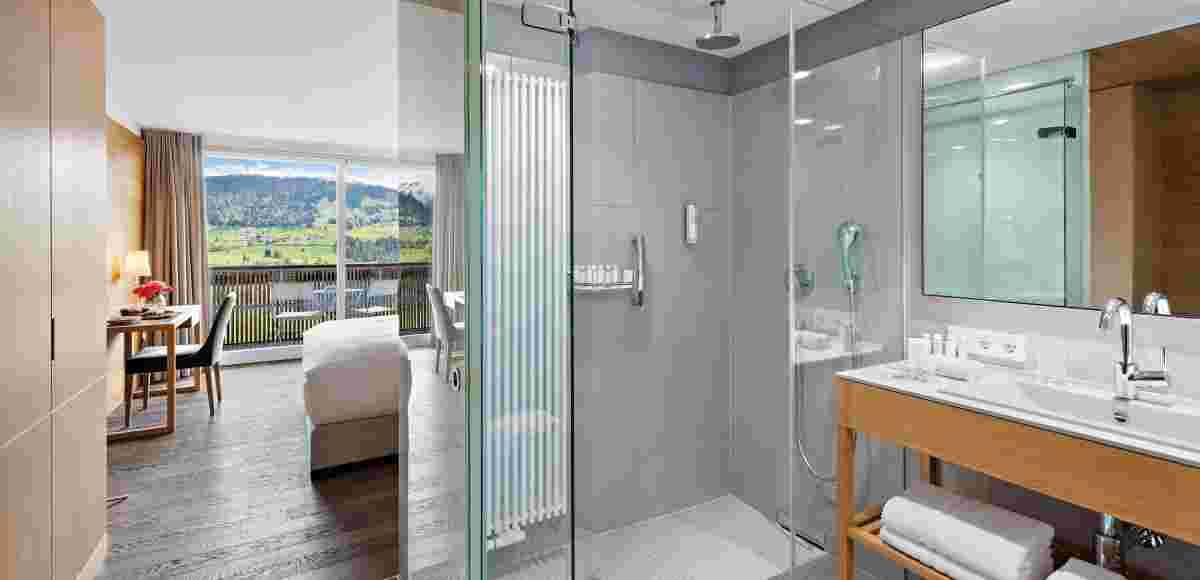 Superior Double Room with Bathroom in the hotel Allgäu Sonne
