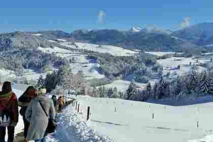 Geführte Wanderung im Schnee, Hotel Allgäu Sonne in Oberstaufen