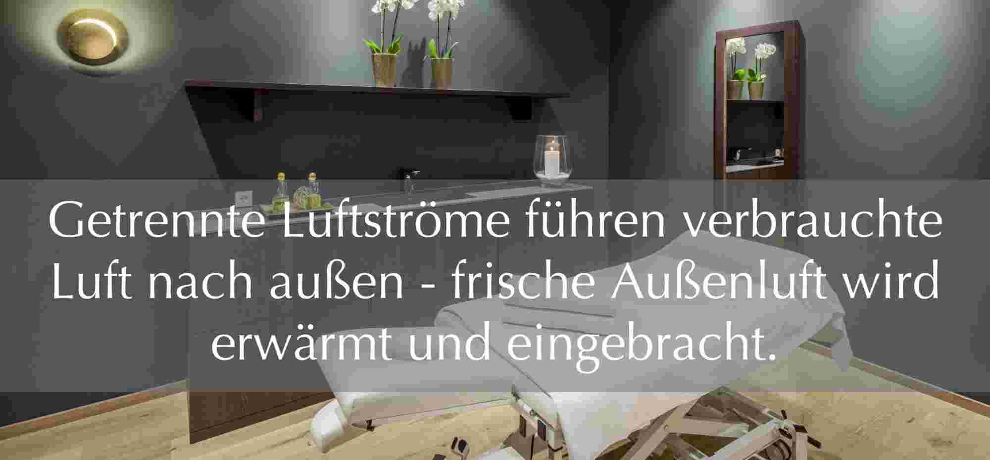 Lüftungsanlage Physiotherapie im Hotel Allgäu Sonne
