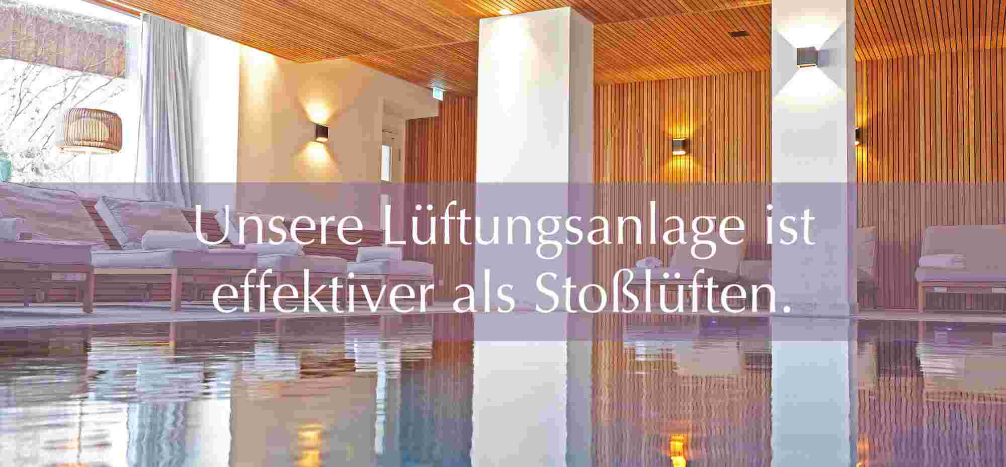 Lüftungsanlage Innenpool im Hotel Allgäu Sonne