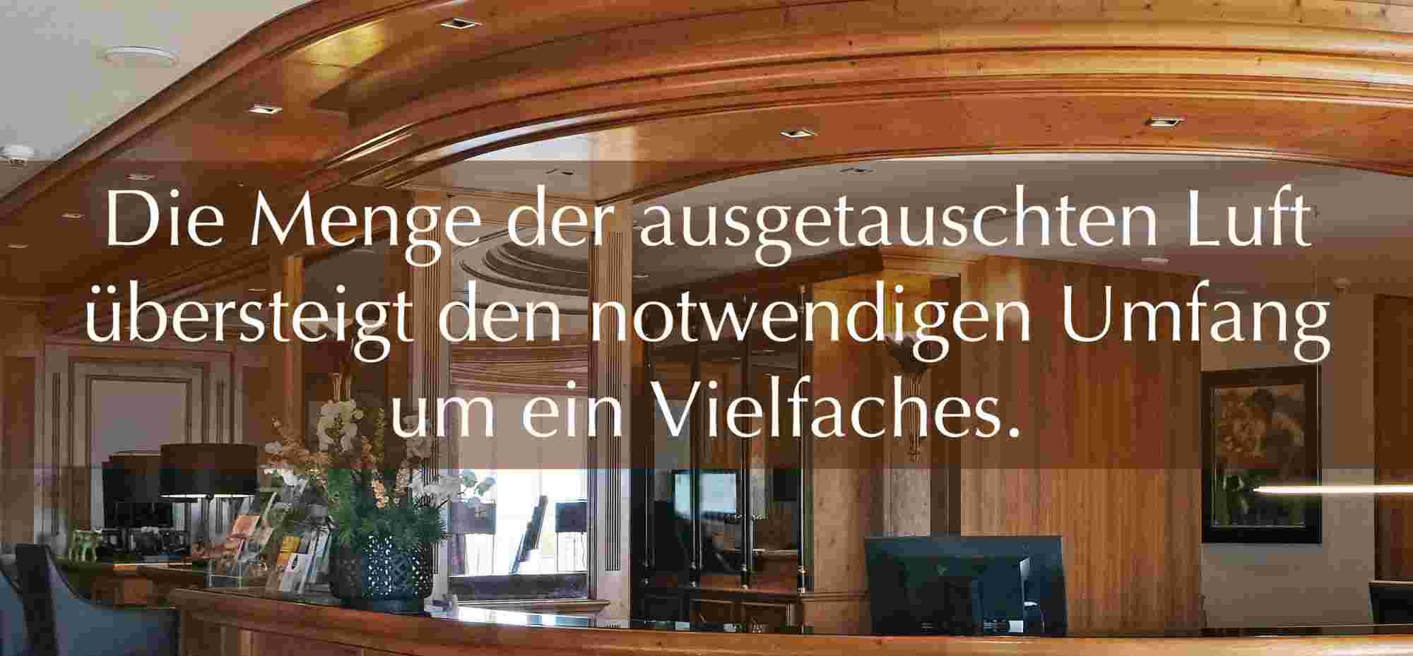 Lüftungsanlage Rezeption im Hotel Allgäu Sonne