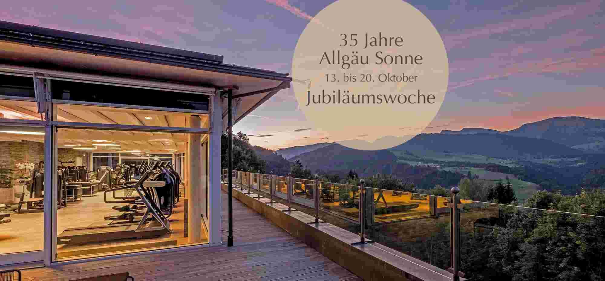 Fitnesswelt im Hotel Allgäu Sonne in Oberstaufen