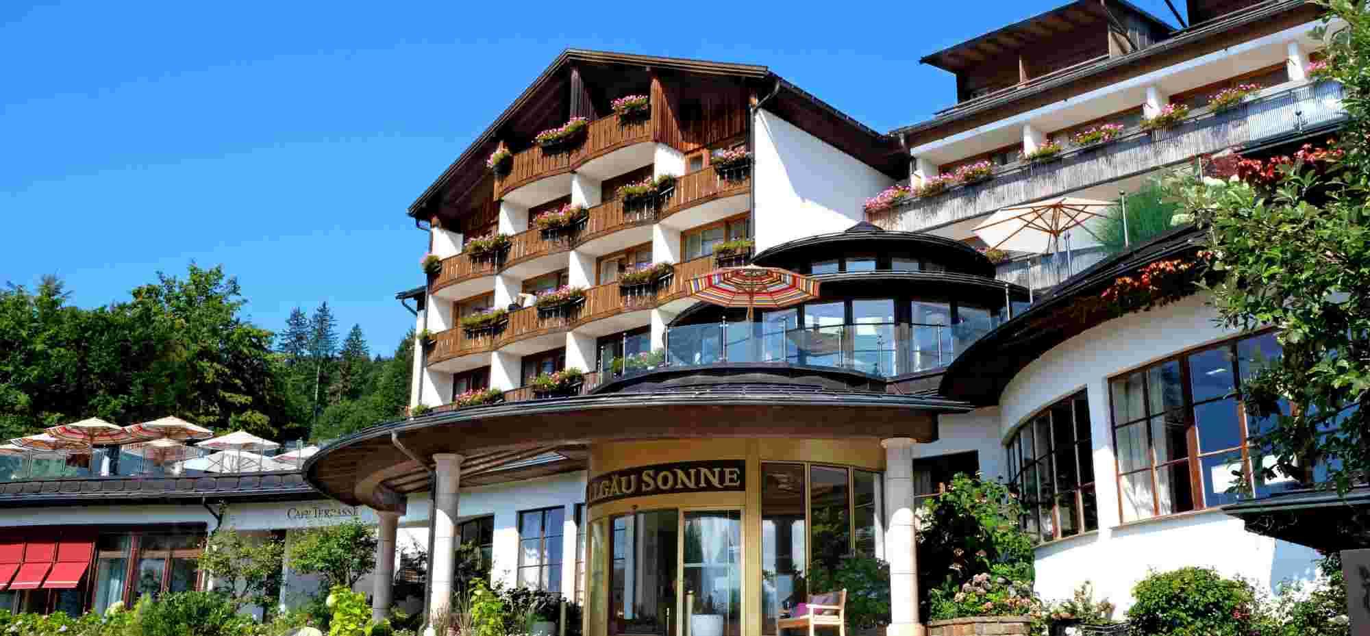 Hotel Allgäu Sonne in Oberstaufen, Eingang