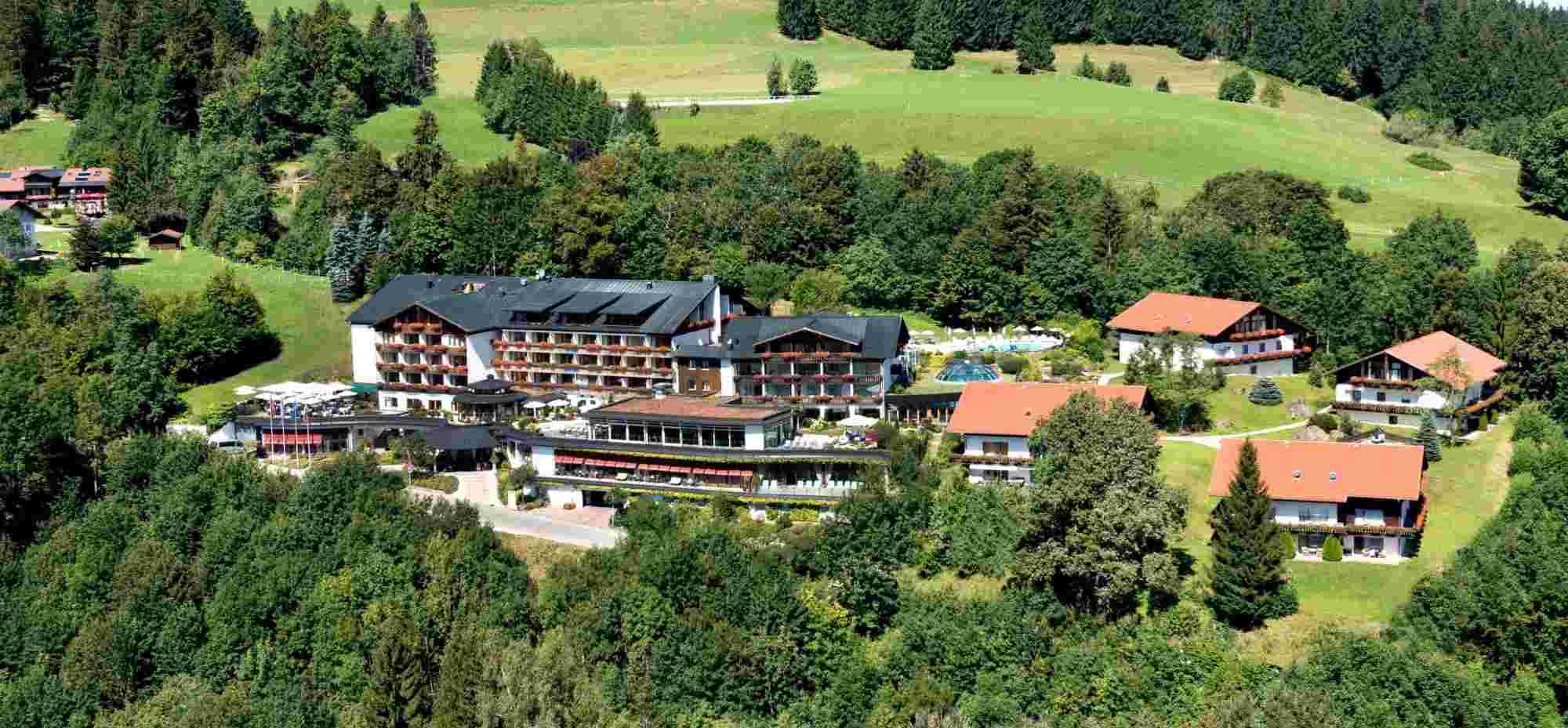 Hotel Allgäu Sonne in Oberstaufen, von oben