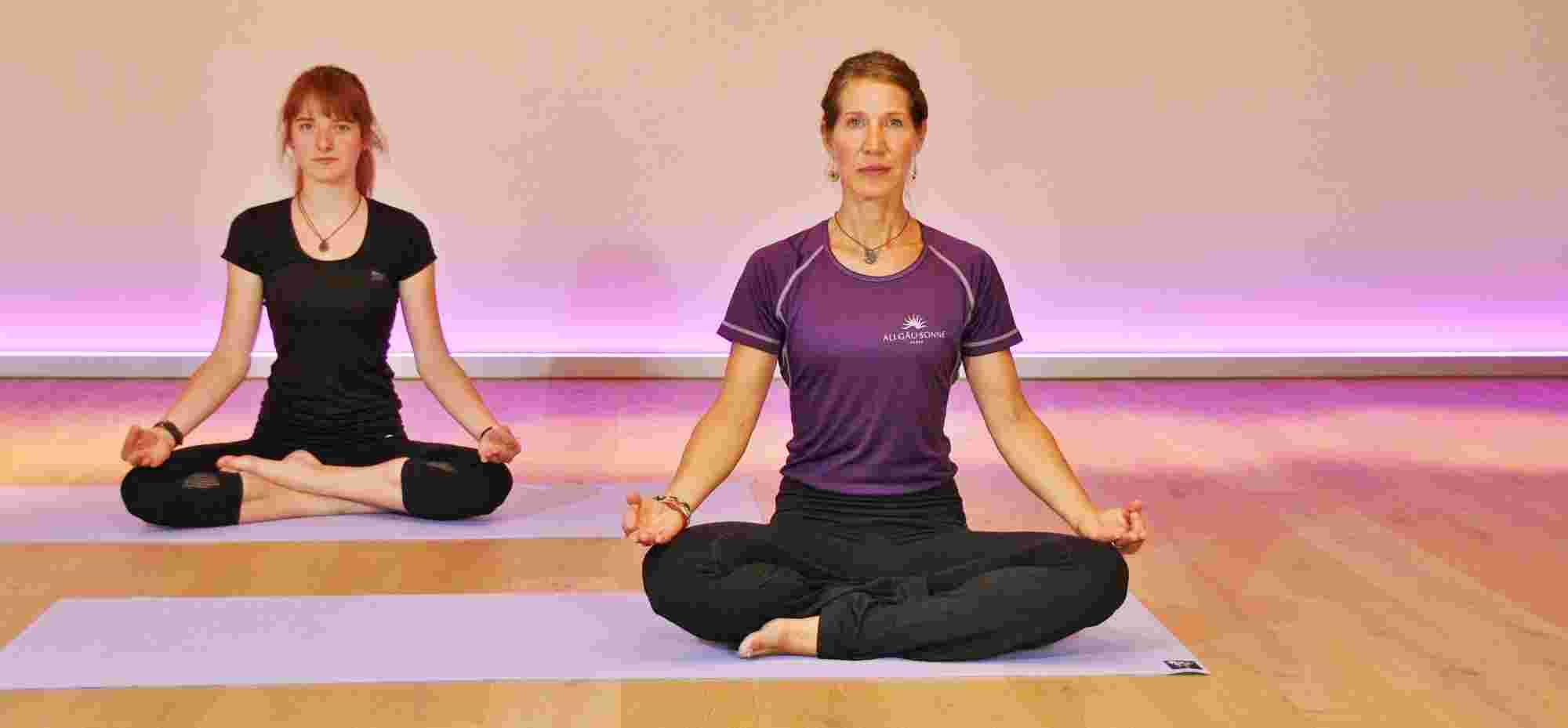 Yoga im Wellnesshotel Allgäu Sonne im Allgäu