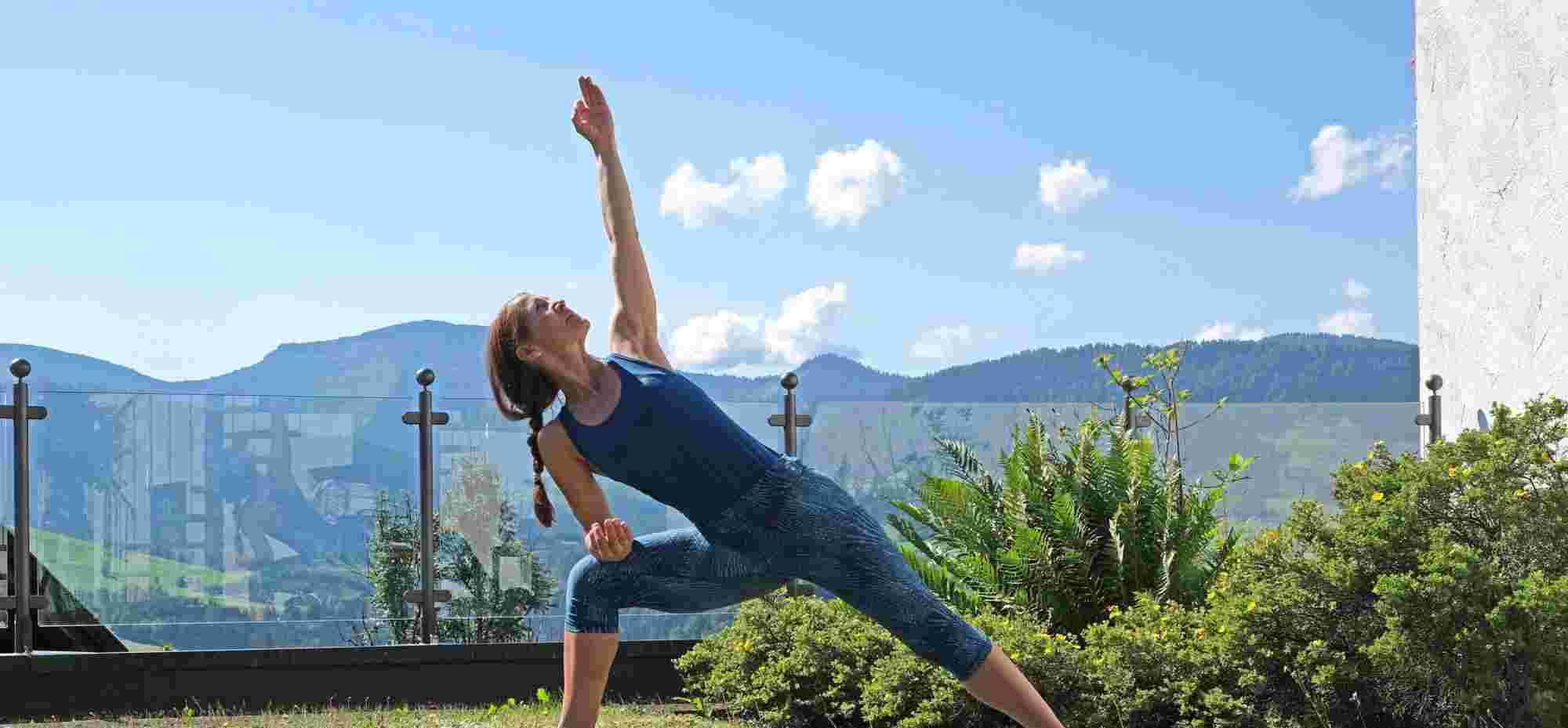 Yoga an der frischen Luft