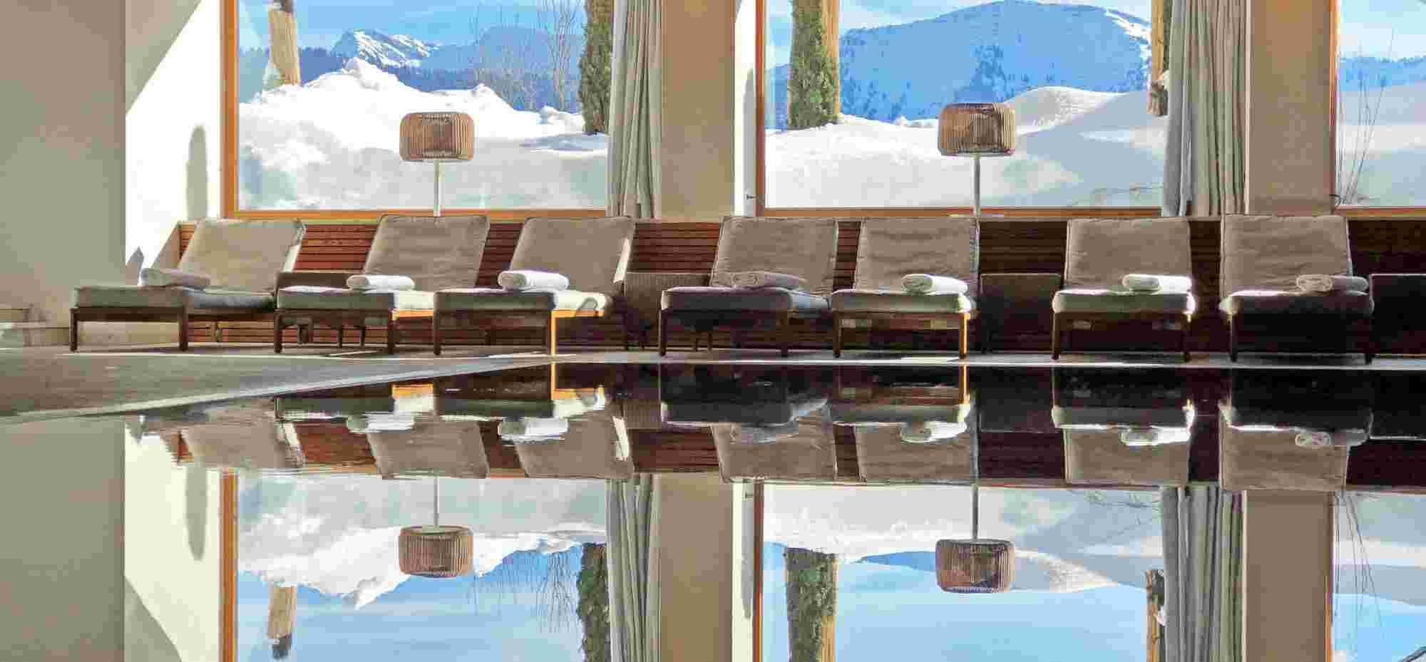 Innenpool, Wellnessbereich im Hotel Allgäu Sonne in Oberstaufen