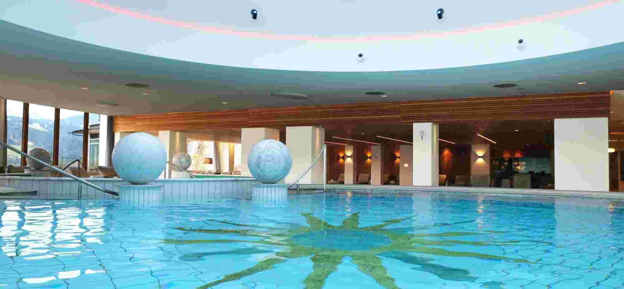 Erlebnisbecken im Wellnesshotel Allgäu Sonne in Oberstaufen