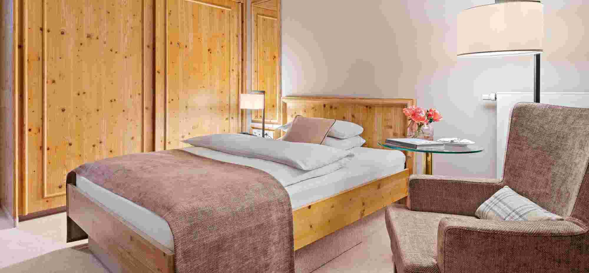 Classic Einzelzimmer, Altrosa, im Hotel Allgäu Sonne in Oberstaufen