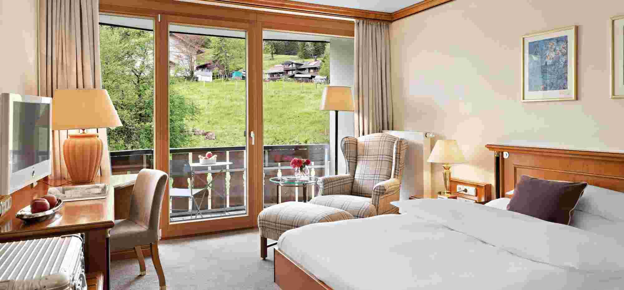 Comfort Einzelzimmer mit Blick nach Westen im Hotel Allgäu Sonne in Oberstaufen