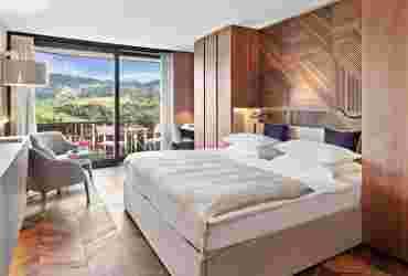 Superior Doppelzimmer mit Bergpanoramablick im Hotel Allgäu Sonne in Oberstaufen