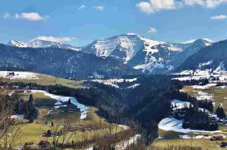 Hochgrath im Frühling, Hotel Allgäu Sonne, Oberstaufen