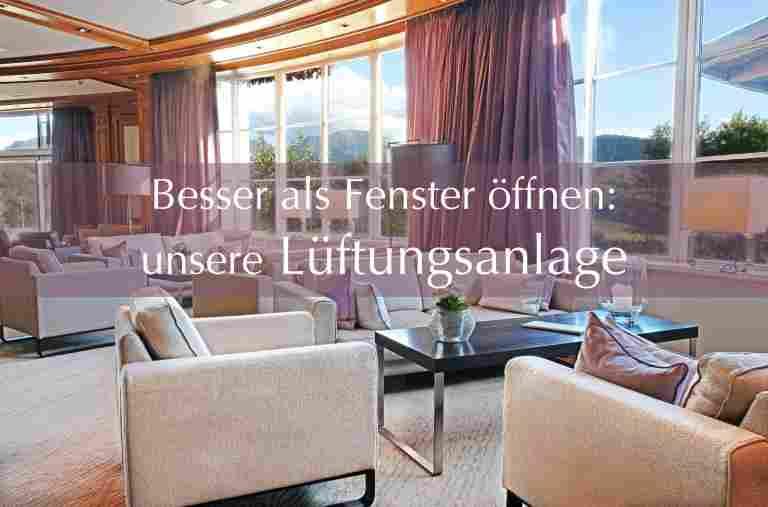 Lüftungsanlage im Hotel Allgäu Sonne in der Panoramahalle