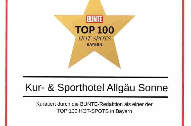 Bunte, TOP 100 Hot-Spots