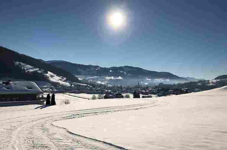 Langlaufen in Oberstaufen im Allgäu