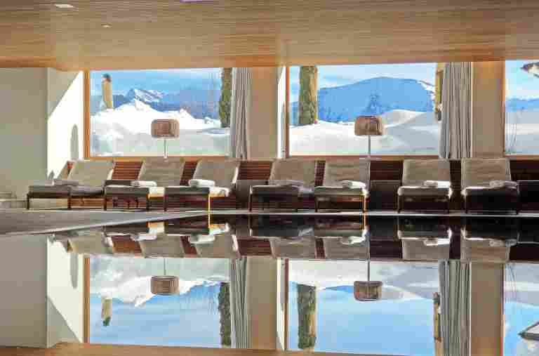 Pool at Allgaeu Sonne in winter