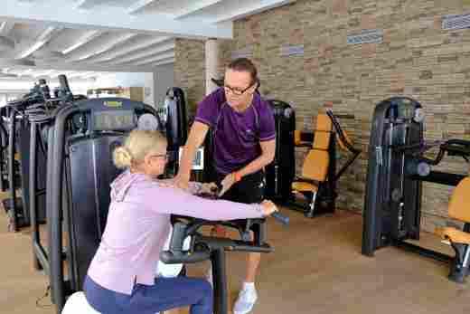 Training in der Fitnesswelt im Sport- und Wellnesshotel Allgäu Sonne