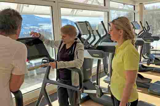 Einweisung in der Fitnesswelt im Sporthotel Allgäu Sonne