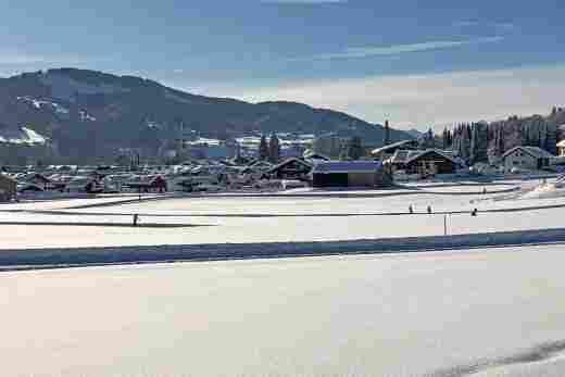 Cross-country skiing trail Kalzhofen near the 5* Sport- & Wellnesshotel Allgäu Sonne in Oberstaufen