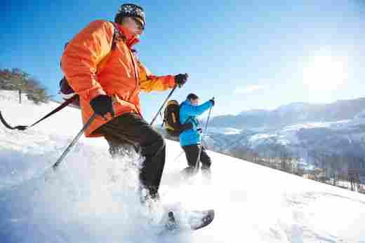 Schneeschuhwanderung mit den Sportbetreuern der Allgäu Sonne in Oberstaufen