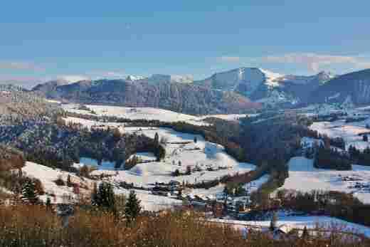 Winterlandschaft vom Wellnesshotel Allgäu Sonne in Oberstaufen