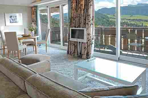 Panorama Comfort Suite mit Bergblick im 5* Hotel Allgäu Sonne