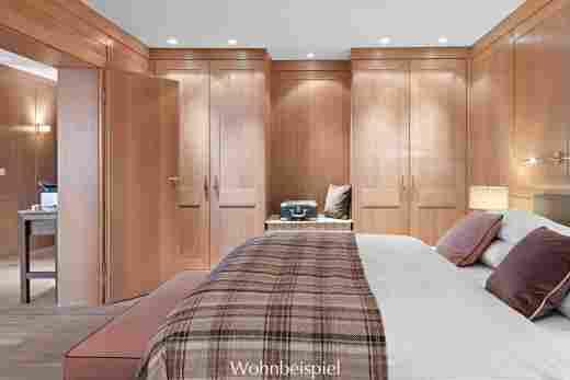 Schlafzimmer in der Alpin Suite Süd im Hotel Allgäu Sonne in Oberstaufen