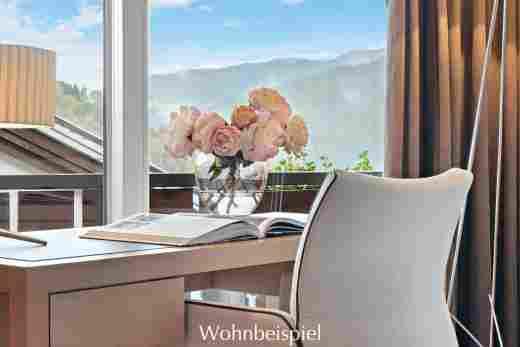 Schreibtischstuhl in der Alpin Suite Süd im 5 Sterne Hotel Allgäu Sonne in Oberstaufen