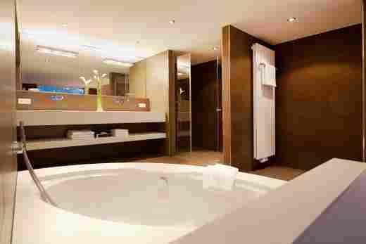 Badezimmer in der Allgäu Sonne Suite im Hotel Allgäu Sonne in Oberstaufen