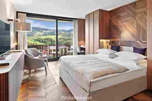 Superior Doppelzimmer mit Aussicht im 5 Sterne Hotel Allgäu Sonne in Oberstaufen