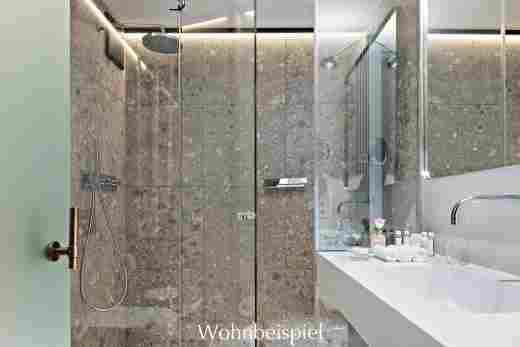 Badezimmer im Superior Doppelzimmer im Hotel Allgäu Sonne in Oberstaufen