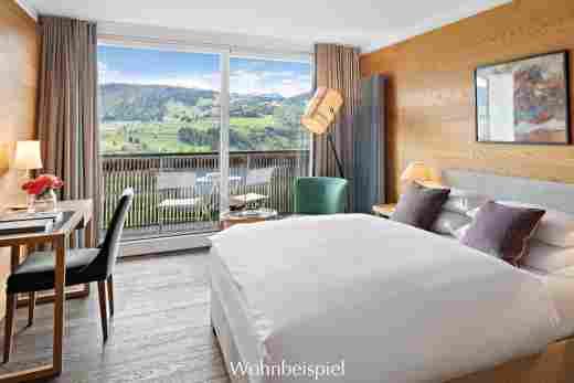 Superior Doppelzimmer mit Aussicht im Hotel Allgäu Sonne in Oberstaufen