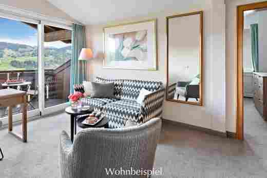Comfort Doppelzimmer, getrennter Wohnbereich im 5 Sterne Hotel Allgäu Sonne in Oberstaufen