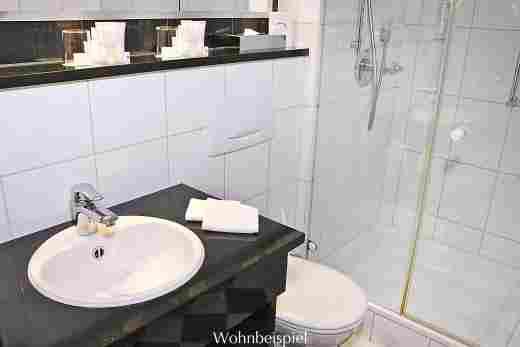Badezimmer im Comfort Doppelzimmer im Hotel Allgäu Sonne in Oberstaufen