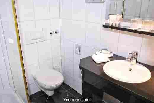 Badezimmer vom Standard Doppelzimmer im 5 Sterne Hotel Allgäu Sonne in Oberstaufen