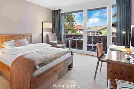Classic Einzelzimmer mit Poolblick, im Hotel Allgäu Sonne in Oberstaufen