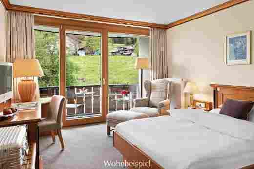 Comfort Einzelzimmer zur Westseite im Hotel Allgäu Sonne in Oberstaufen