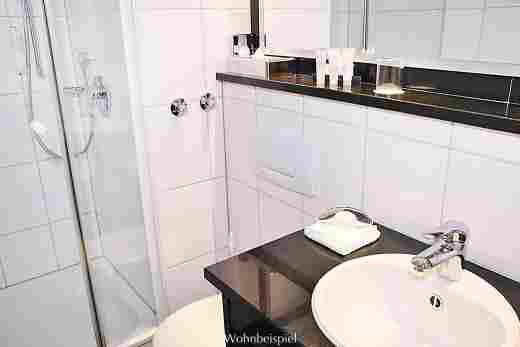 Badezimmer im Classic Einzelzimmer im Hotel Allgäu Sonne in Oberstaufen