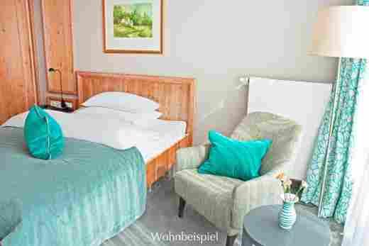Classic Einzelzimmer, türkis, im Hotel Allgäu Sonne in Oberstaufen