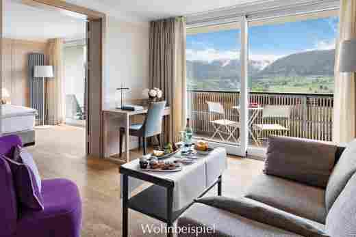 Juniorsuite mit traumhaftem Bergblick im Hotel Allgäu Sonne in Oberstaufen