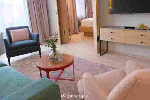 Wohnzimmer zum Schlafzimmer im Superior Appartement im Landhaus im Hotel Allgäu Sonne