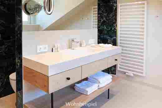 Waschtisch im Studio im Landhaus im 5 Sterne Hotel Allgäu Sonne