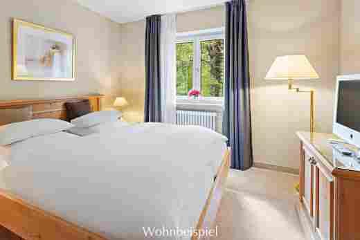 Schlafzimmer im Appartement im Landhaus im Hotel Allgäu Sonne in Oberstaufen